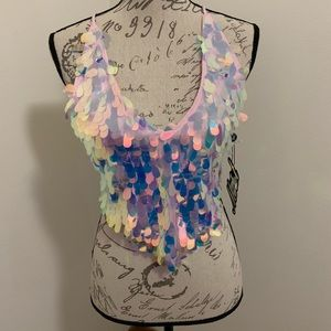NWT Motel brand sequined top